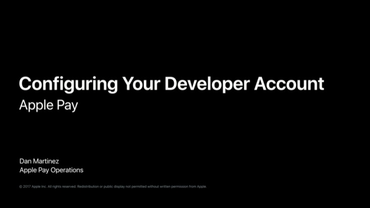 Configuring Your Developer Account for Apple Pay