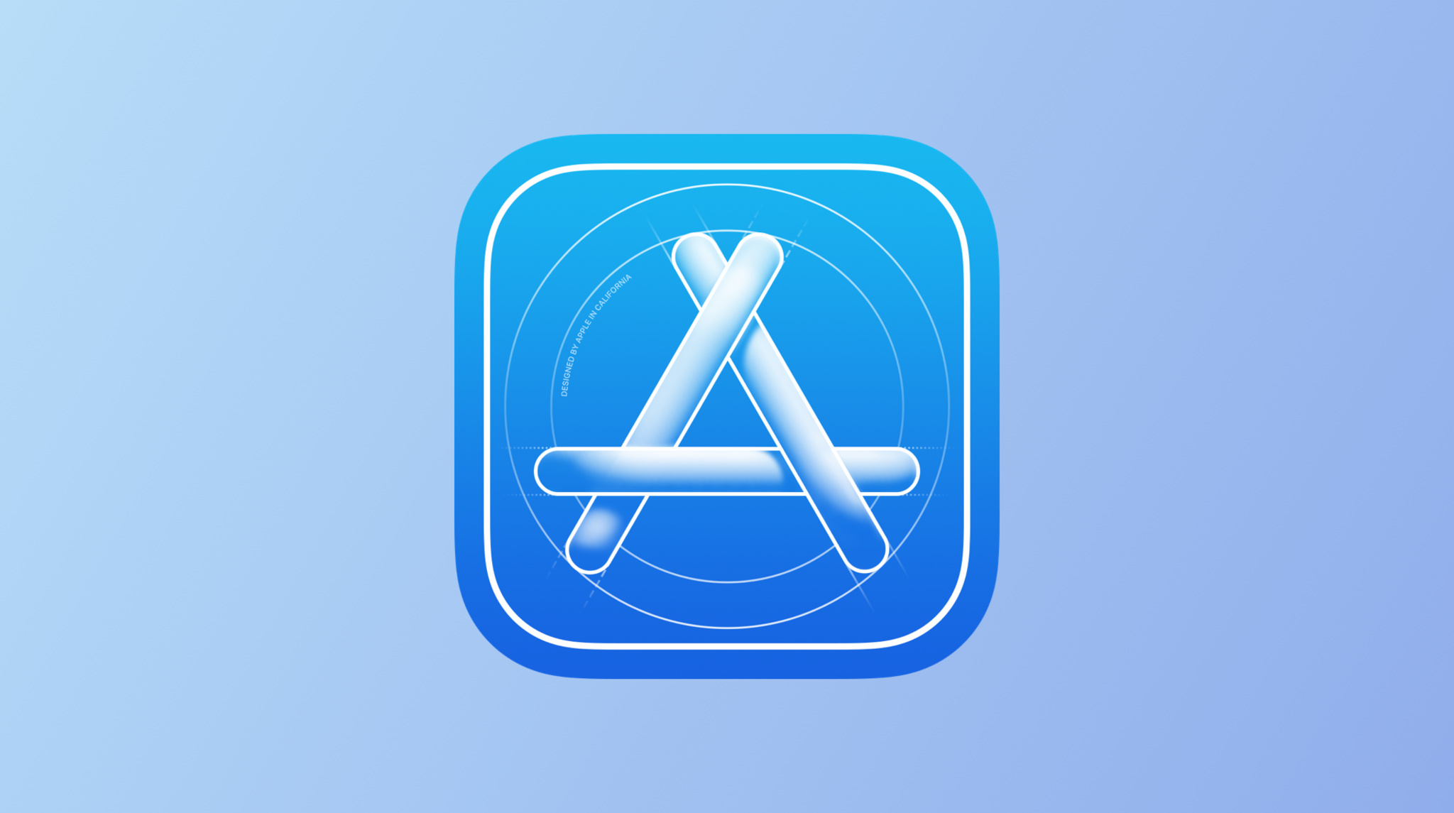 Apple developer app icon on a blue background