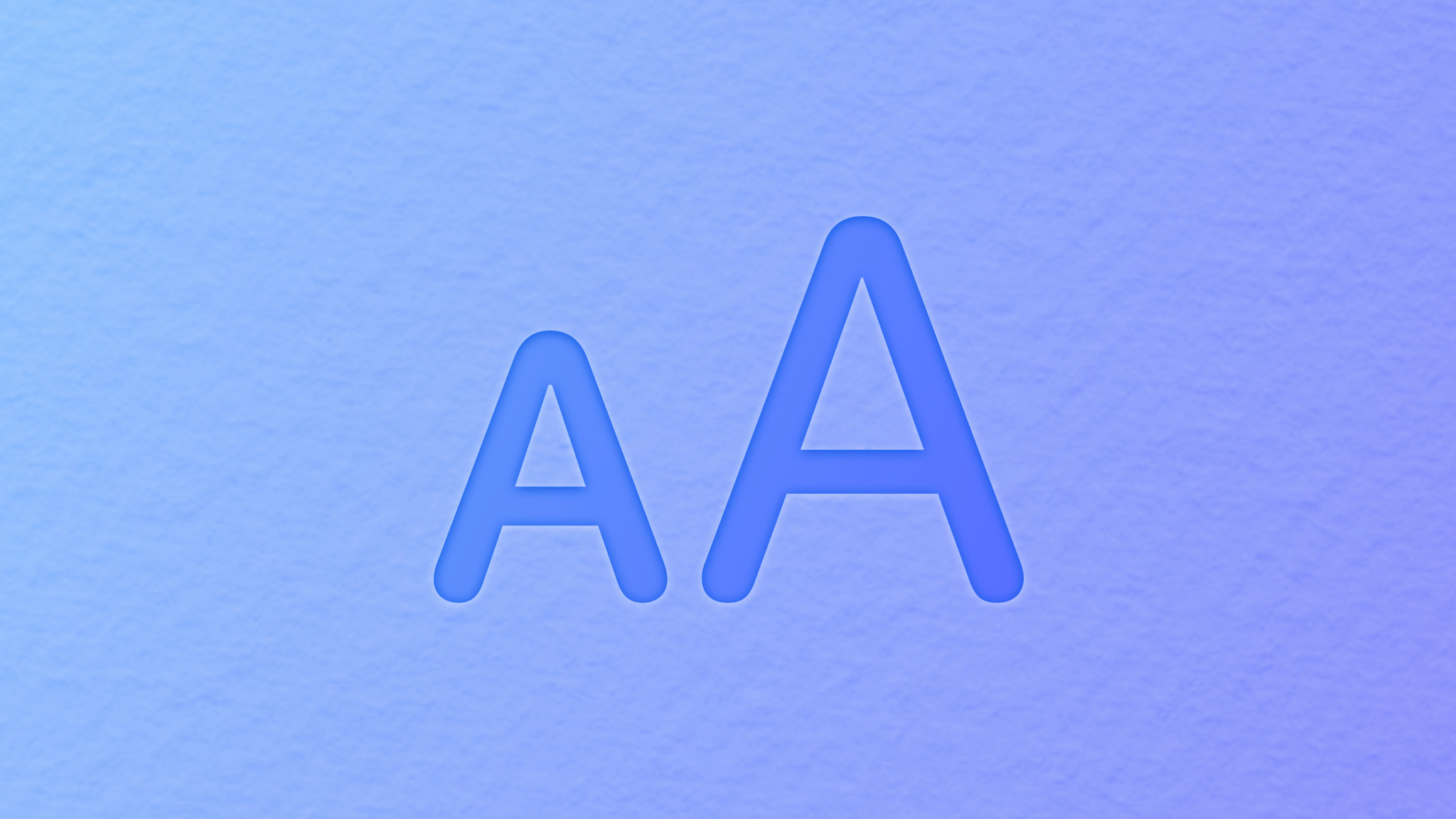 Text adjustments over blue bg