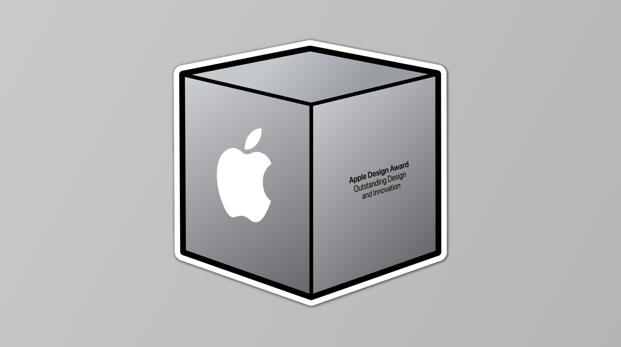 Apple Design Award sticker