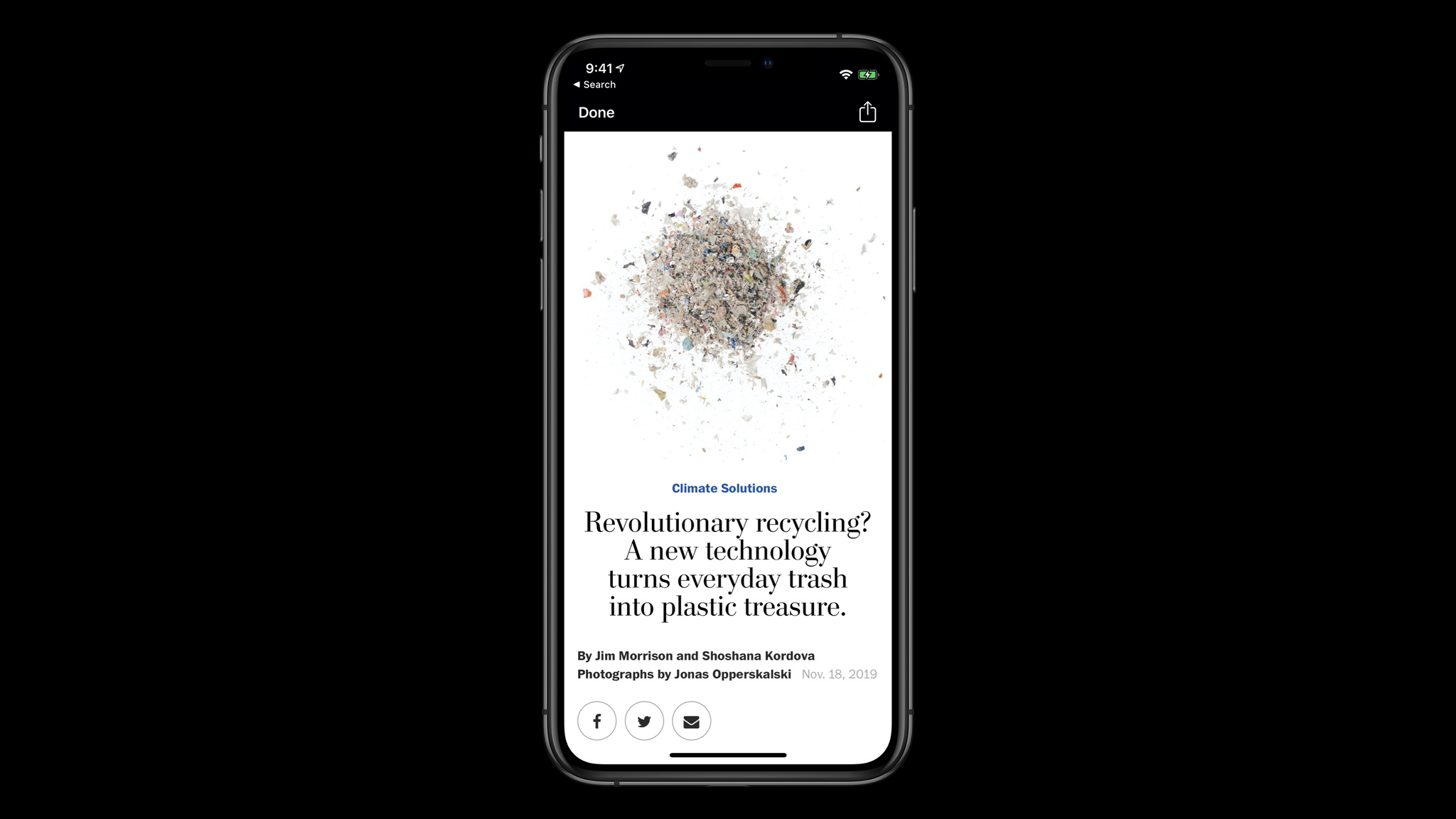 The Washington Post's development team implemented WKWebView to display content from the Washington Post website within their app.