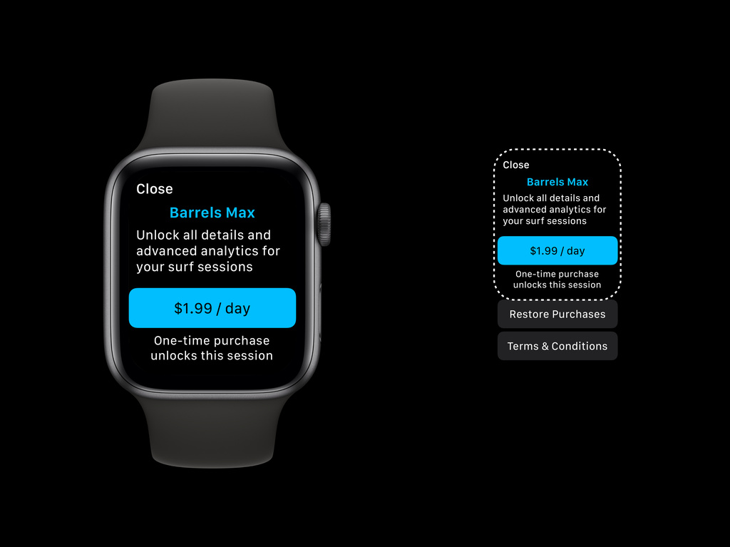 Design a great in-app purchase experience for Apple Watch