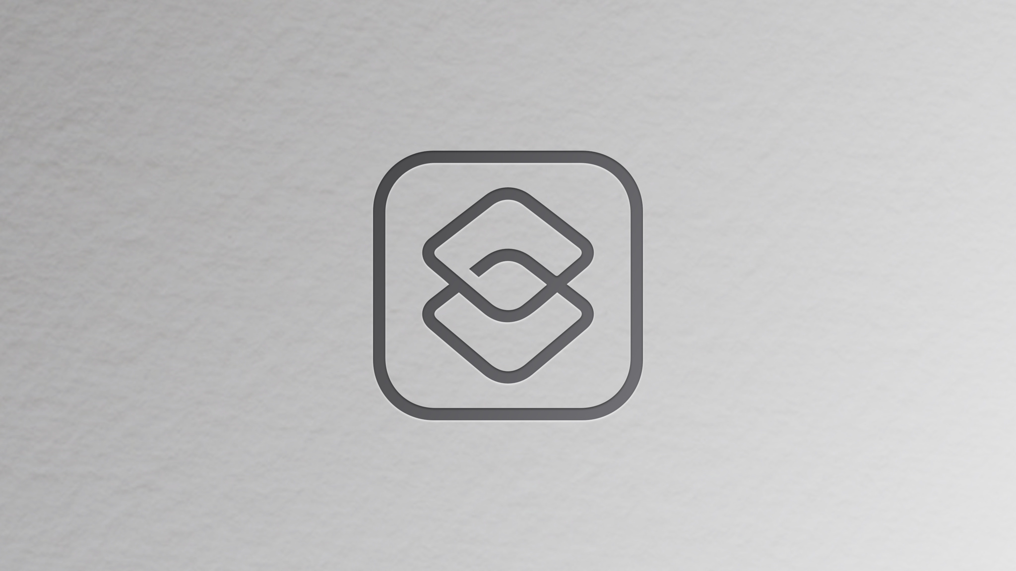 Shortcuts icon on a silver background