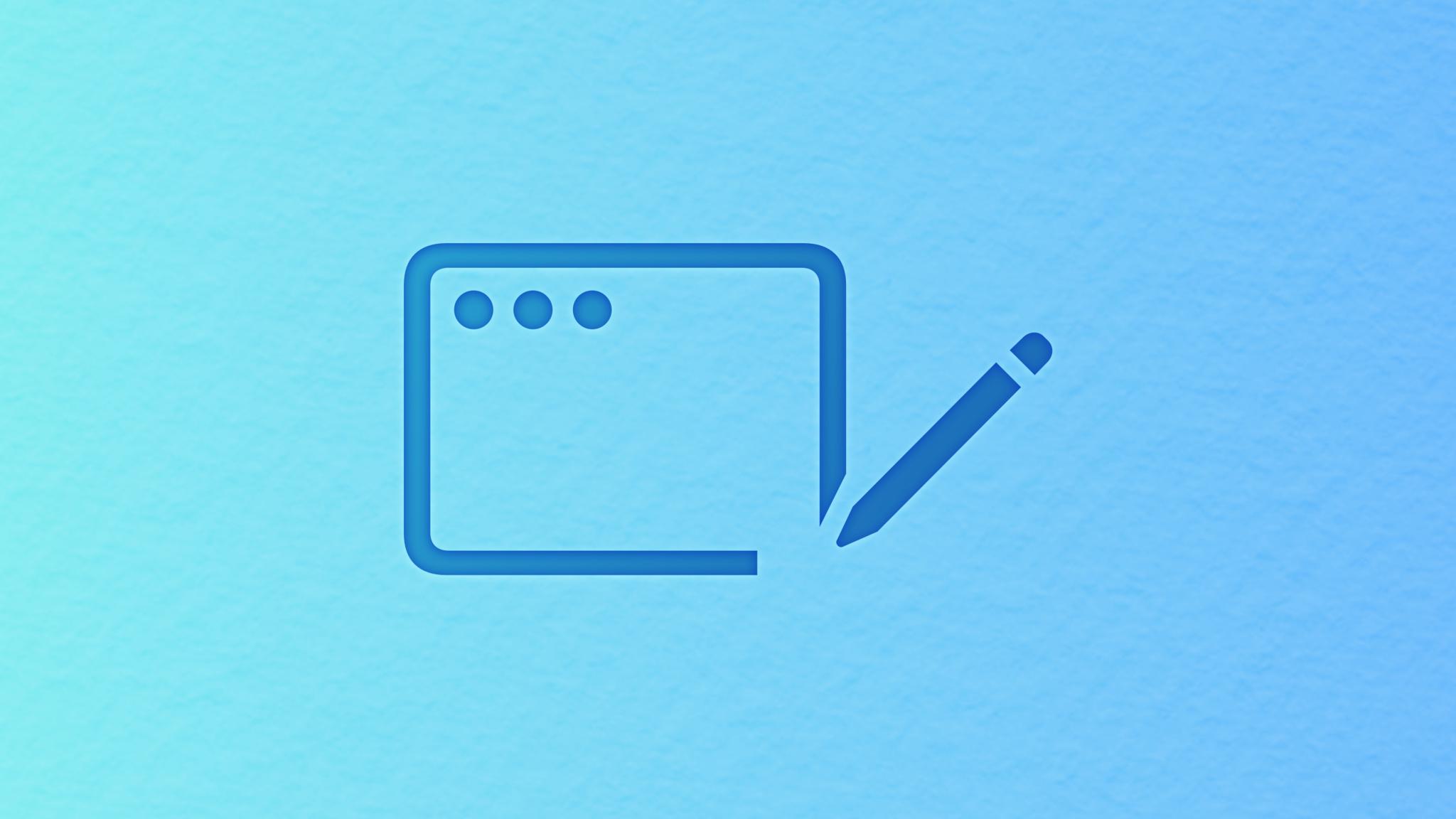 Pencil drawing a MacOS window