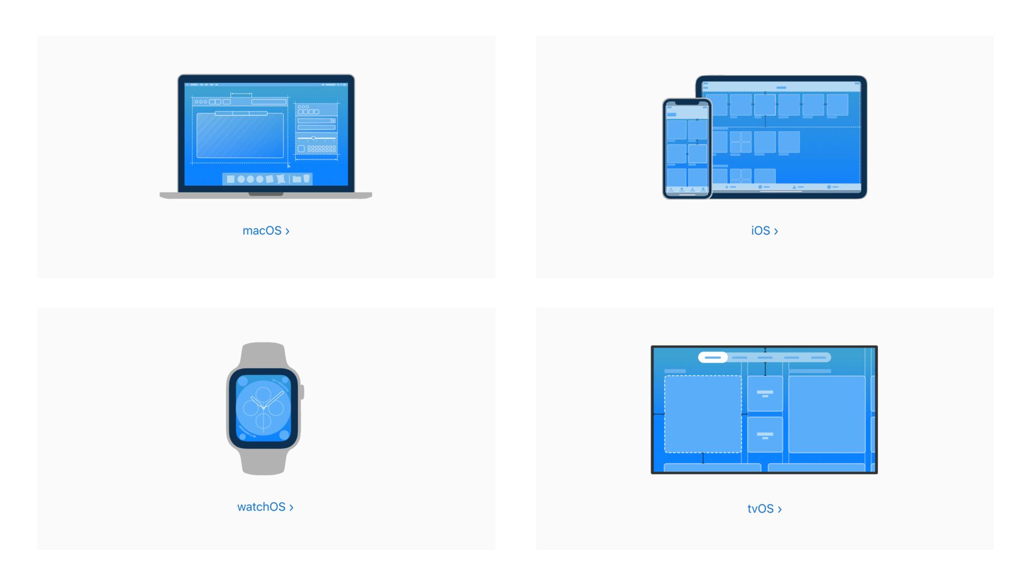 Explore design principles for each platform.