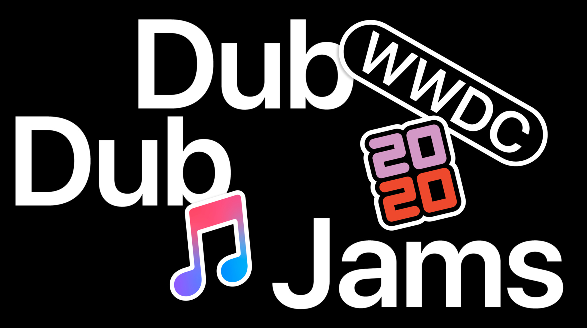 WWDC20 Dub Dub Jams with 2020 and Apple Music sticker