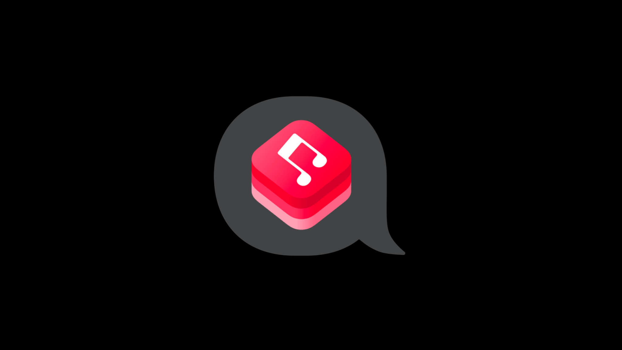 MusicKit icon inside of a speak bubble symbol