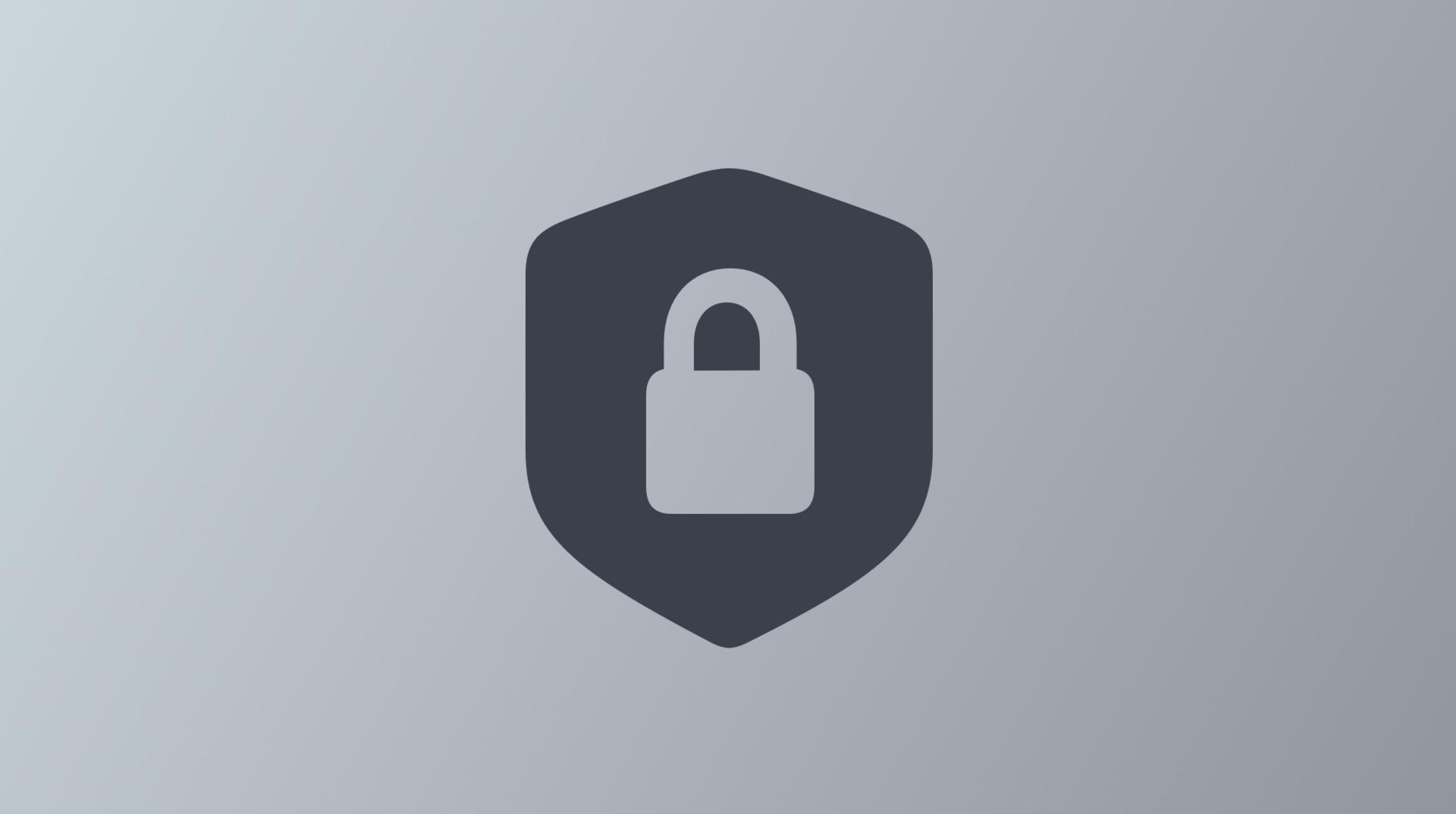 Locked shield icon