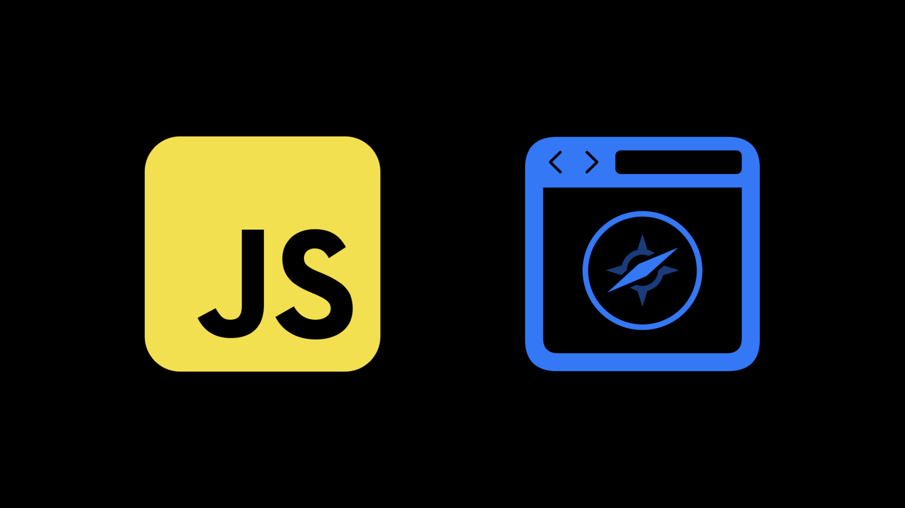 JS logo and a browser-like web view