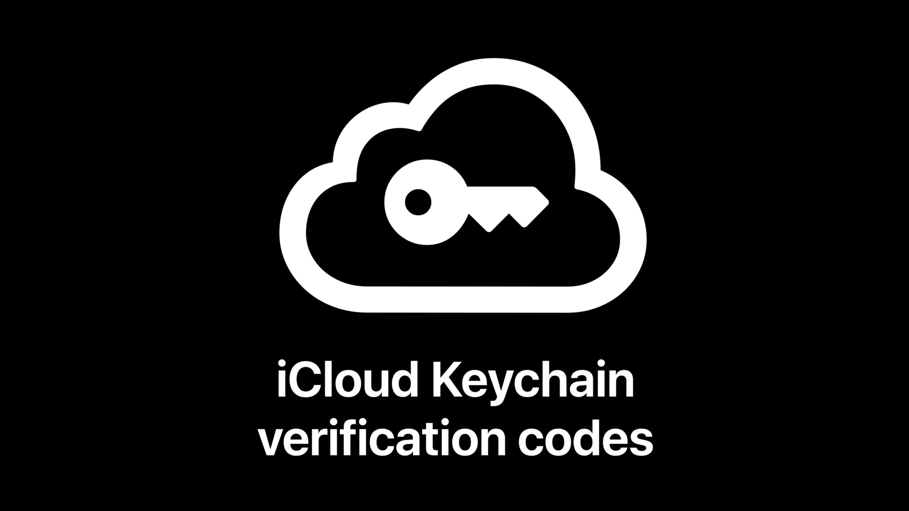 Icon depicting a key inside a cloud for iCloud Keychain verification codes