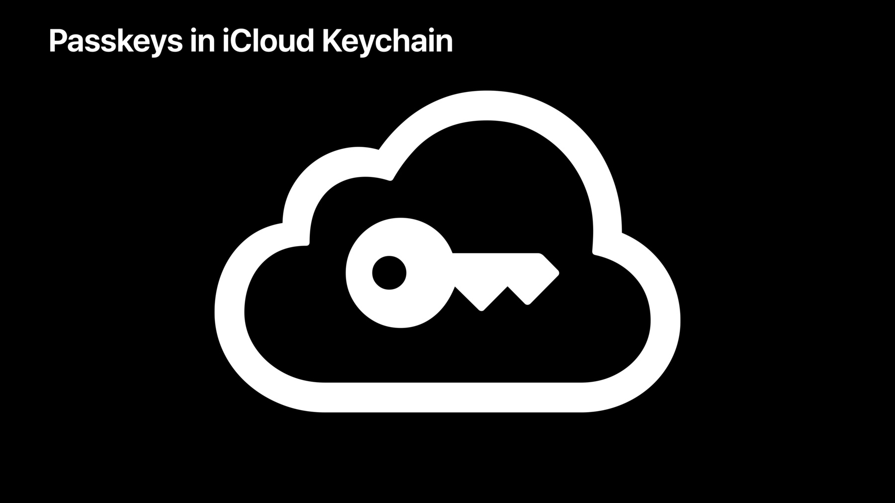 Passkeys in iCloud Keychain technology preview powered by WebAuthn, backed by iCloud Keychain