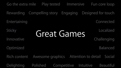 Ingredients of Great Games