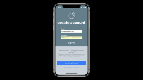 Automatic Strong Passwords and Security Code AutoFill - WWDC 2018