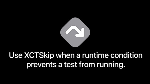 XCTSkip your tests