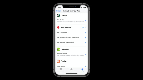 Feature your actions in the Shortcuts app
