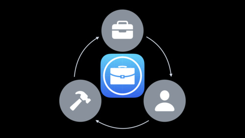 Custom app distribution with Apple Business Manager